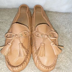 Coach Tan Leather Moccasin Flats Size 6.5